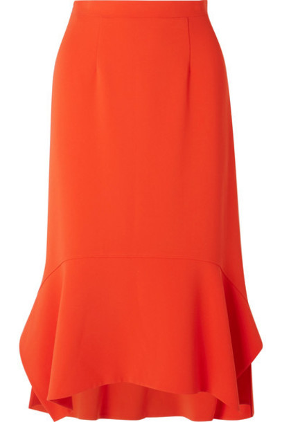 Altuzarra skirt midi skirt midi orange