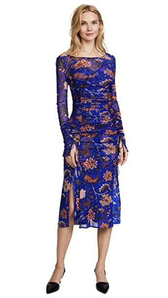 Diane Von Furstenberg dress mesh dress mesh blue