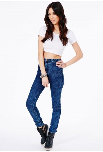 Brigitte super skinny jeans in marble wash