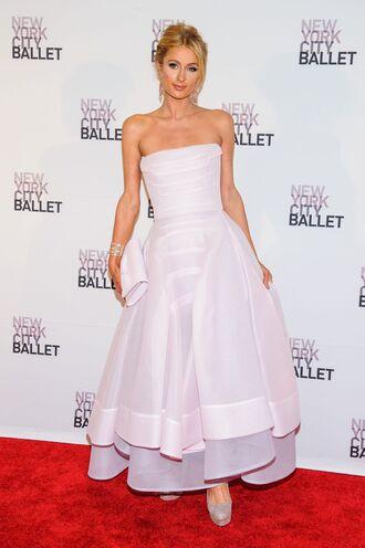 dress gown strapless paris hilton prom dress clutch