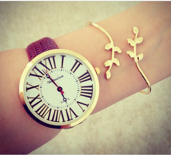 leaf jewels watch bracelets