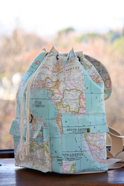bag map globe backpack blue dress pink dress green dress yellow dress blue shirt pink swimwear