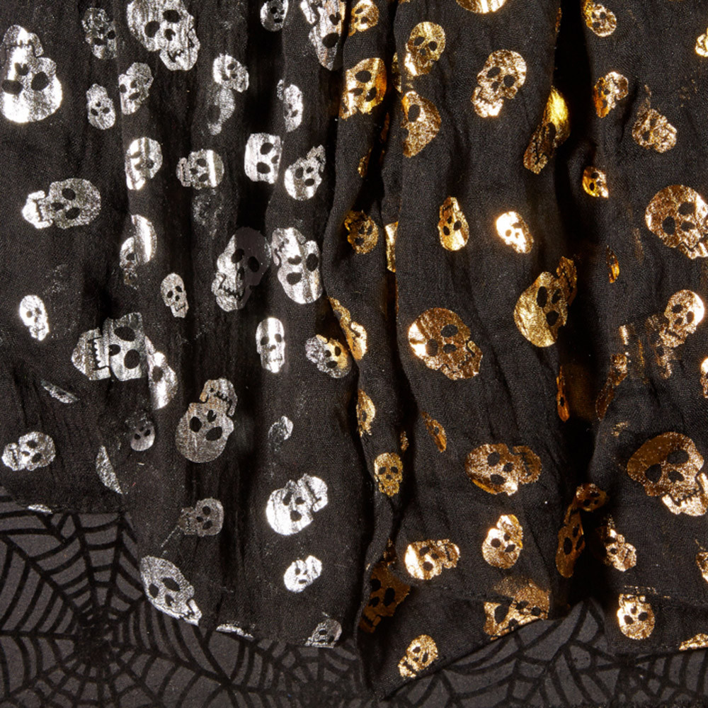 Metallic Skull Patterned Scarf