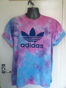 Vintage 90S ADIDAS Trefoil Tie Dye Tshirt Hipster Retro Trash Ibiza XXL 18 20 | eBay