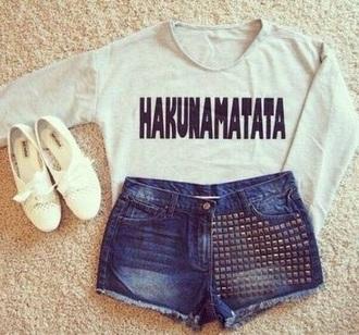shirt the lion king white hakuna matata
