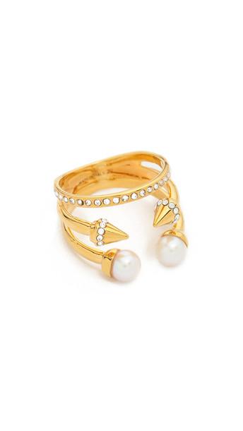 Vita Fede Ultra Mini Freshwater Cultured Pearl Titan Ring - Gold