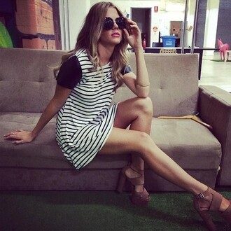 dress sunglasses striped dress shift