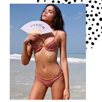 swimwear ishine365 bikini blush pink dusty pink rose dusty veronika pagan veronika pagan underwire bra shop miami summer winter outfits spring