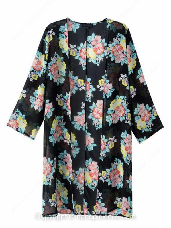 floral coat top floral kimono coat