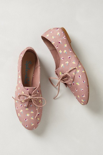 shoes derbies flats dusty pink