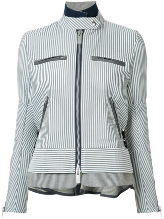 jacket women cotton wool grey