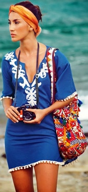 dress,blue,summer dress,summer,beach,casual dress,lovely,blue dress,greek style