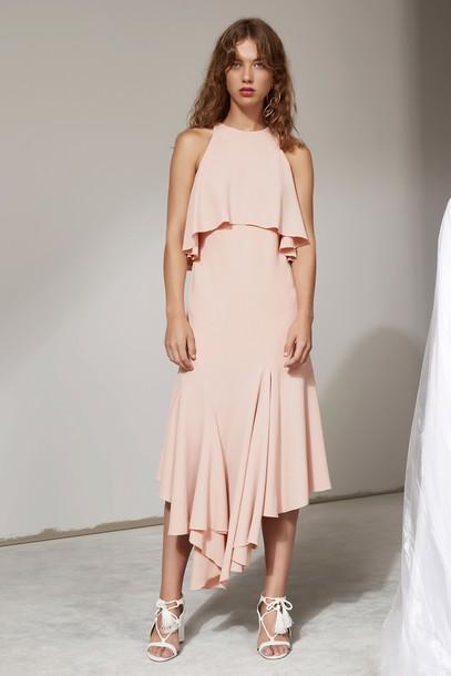 C/MEO COLLECTIVE dress midi dress midi pink dusty pink