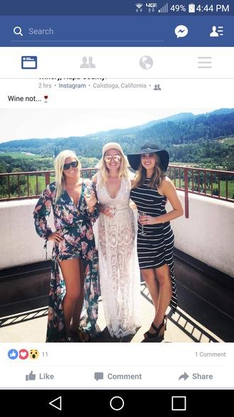 dress summer dress long dress white long dress floral dress striped dress