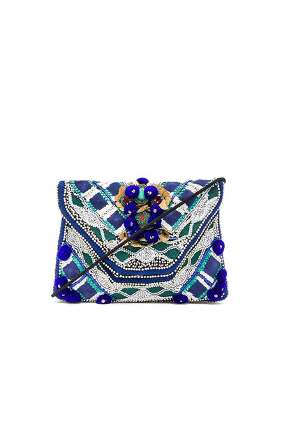 Antik Batik clutch blue