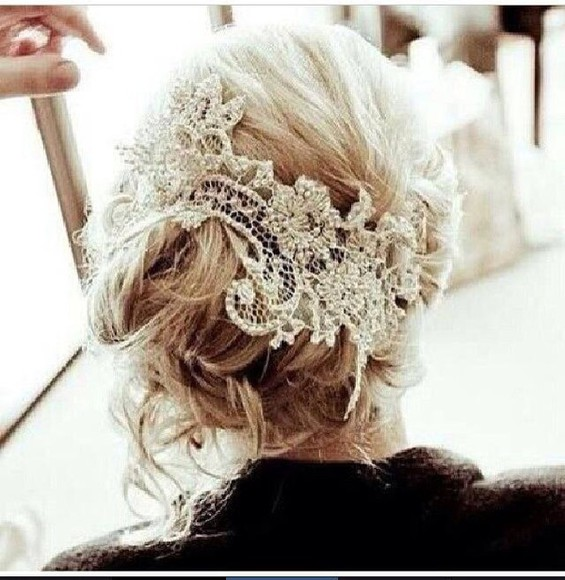 hair accessories lace hair accessories wedding clothes