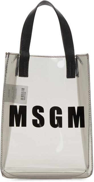 mini plastic vinyl grey bag