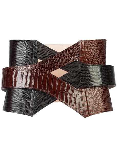 style women belt leather brown