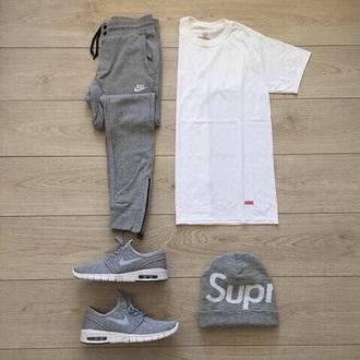 pants grey nike joggers nike sweatpants