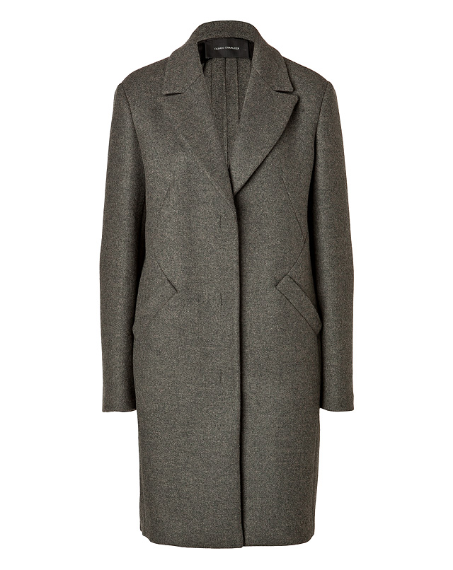 Wool Blend Back Pleat Coat from C