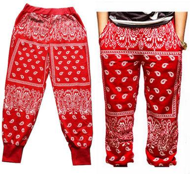 Unisex paisley bandana harem hip hop jogging sweatpants
