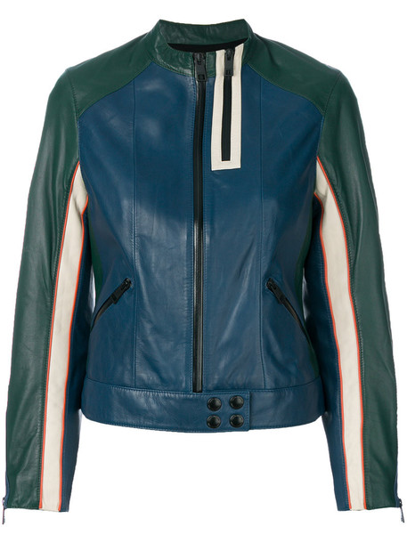 Zadig & Voltaire jacket women cotton blue