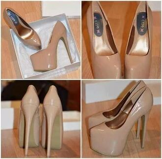 shoes high heels nude nude high heels
