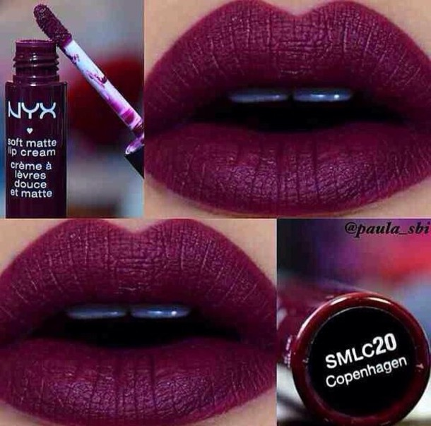 make-up purple lipstick lip gloss