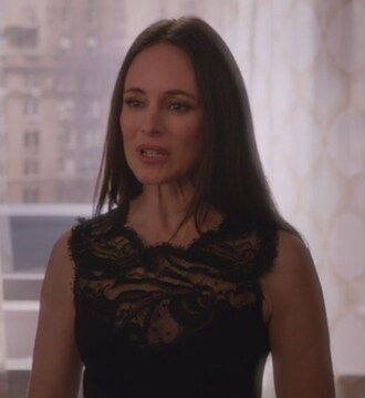 dress black lace victoria grayson revenge madeleine stowe