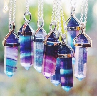 jewels crystal necklace sliver sliver necklace crystal quartz crystal quartz necklace gems galaxy print moon necklace gemstone gem stone point necklace indie hipster color/pattern gemstone pendant summer accessories purple nechlaces