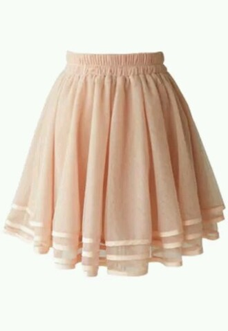 skirt pleated flare tulle skirt mini layered pink