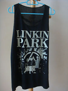 LINKIN PARK ROCK BAND NEW BLACK TANK TOP T-SHIRT SINGLET VEST MEN size L XL | eBay