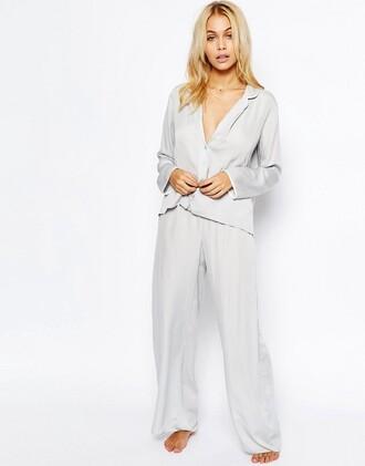 pajamas matching set silver asos streetwear