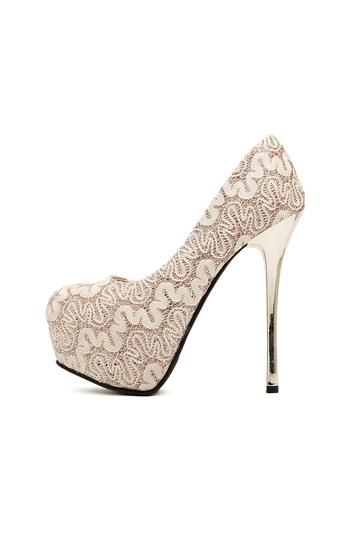 Princess Style Lace Platform Heels [FABI1509]- US$ 44.99 - PersunMall.com