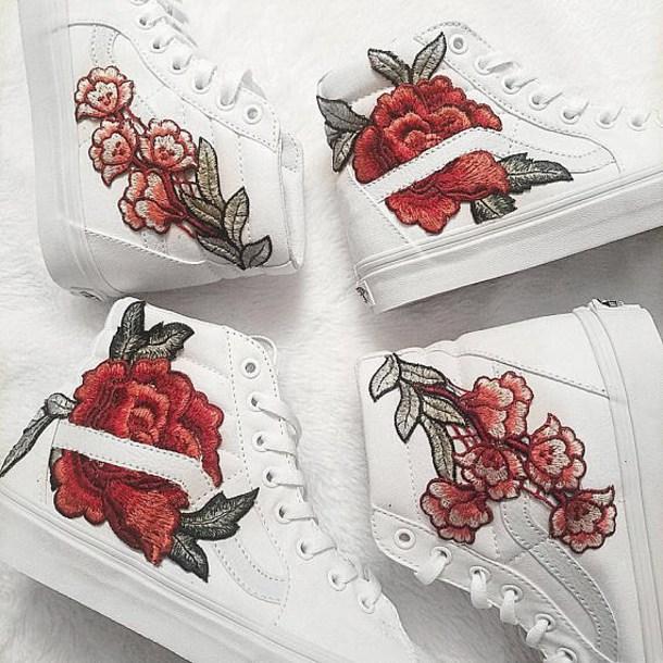 sunglasses roses patch rosepatch vans shoes patchwork