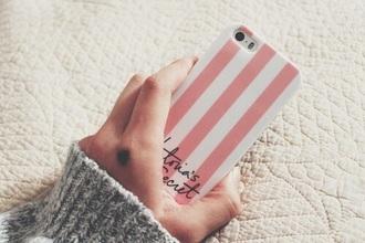 phone cover victoria's secret pink white ❤️