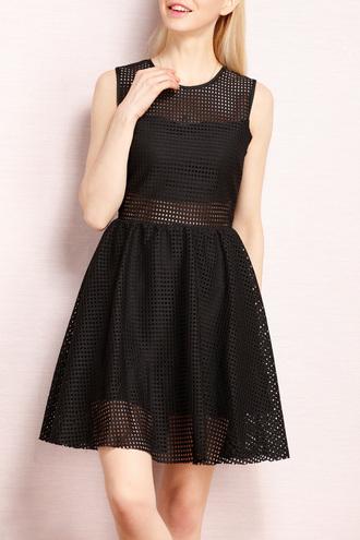 dress dezzal mesh sleeveless black dress summer summer dress chic