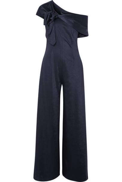 Paper London jumpsuit blue satin