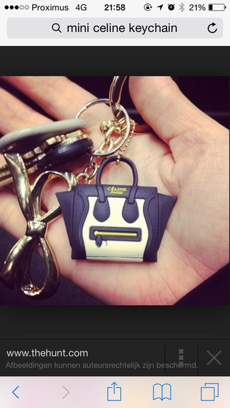 keychain mini celine bag