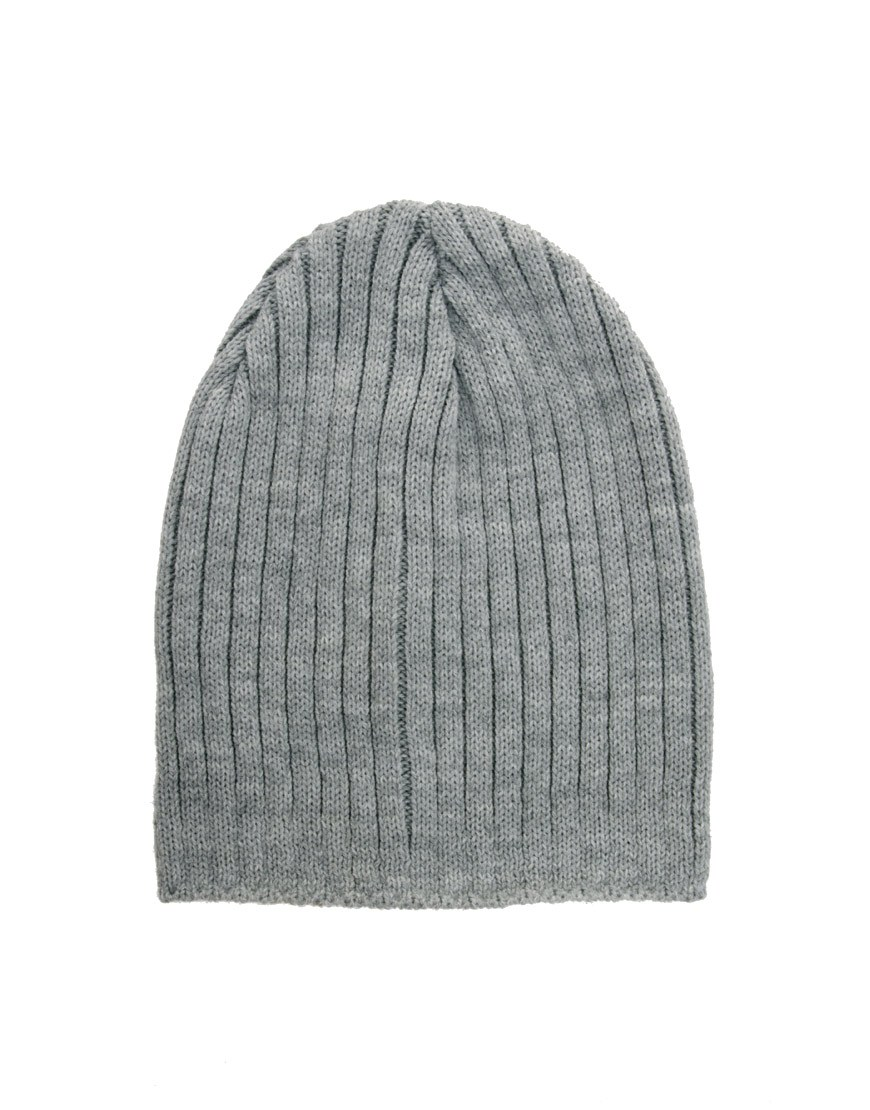 ASOS Mixed Knit Short Rib Beanie at asos.com