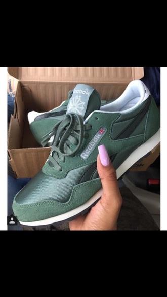 shoes reekbos green khaki trainers reebok