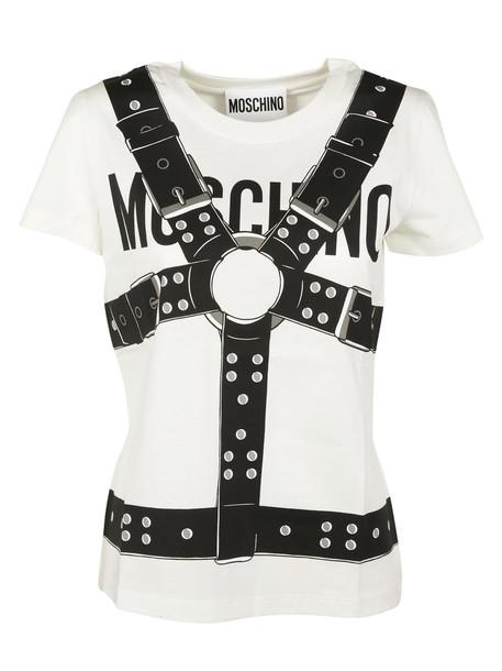 Moschino t-shirt shirt printed t-shirt t-shirt top