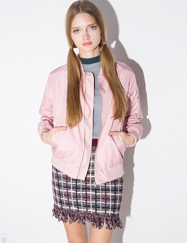 Bomber Jacket - Pink Flight Jacket-