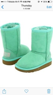 shoes,ugg boots,mint,brown,boots,fur,booties,uggs mint color