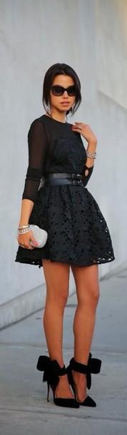 dress black lace dress shoes black dress black shoes