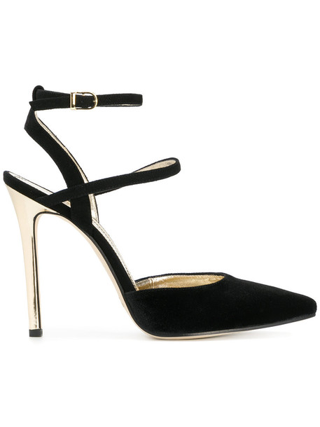Marc Ellis women sandals leather black velvet shoes