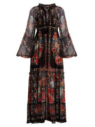 dress chiffon dress chiffon print black