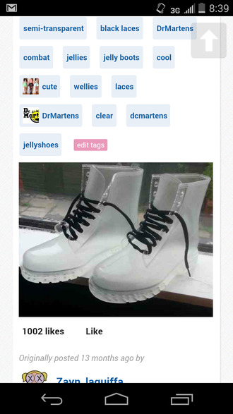 clear boots shoes clear jellies cool laces drmartens