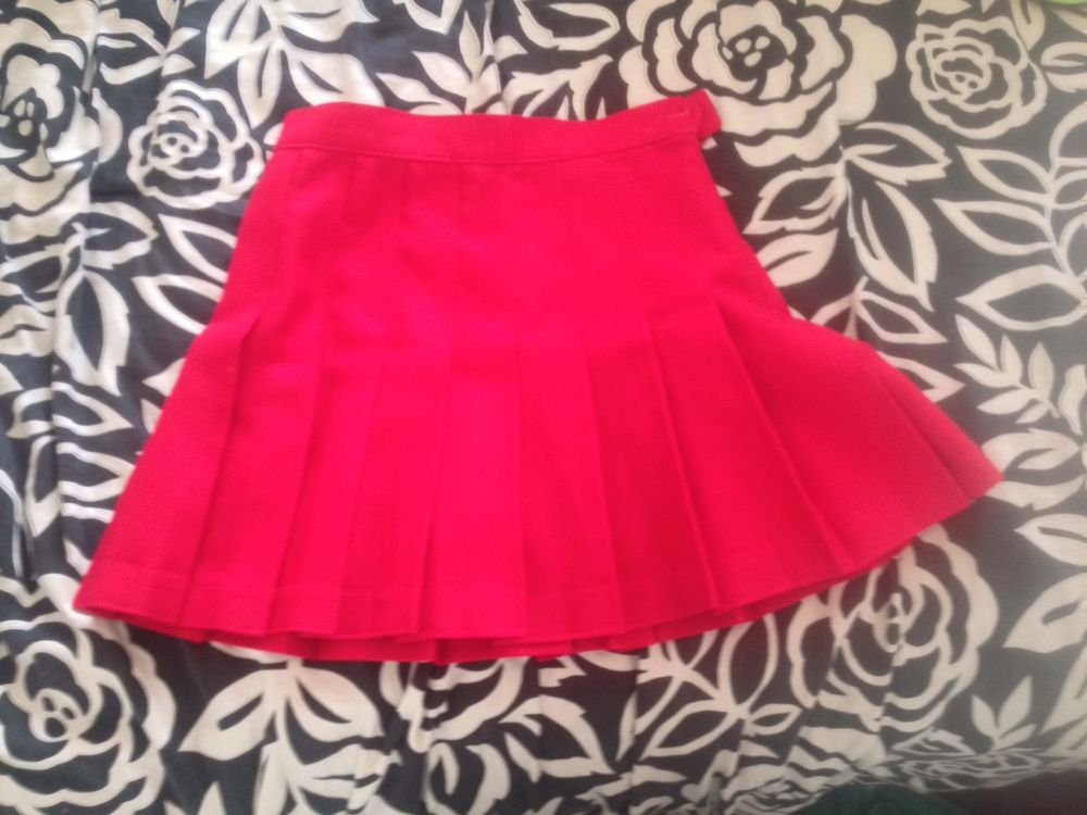 Red pleated skirt from american apparel