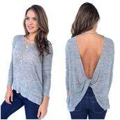 sweater,grey,backless,knitwear,crossed back